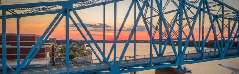 Owensboro Bridge at sunset